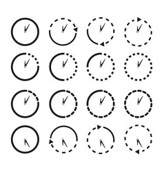 set of non stop icons the clocks vector image
