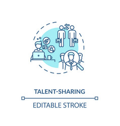 Sharing talent turquoise concept icon vector