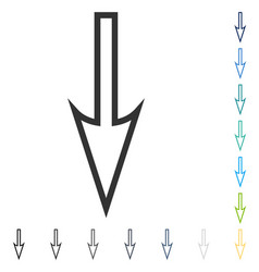 Sharp arrow down icon vector