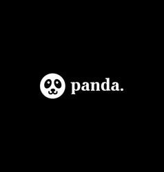 simple panda logo design panda template logo vec vector image