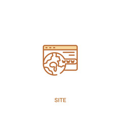 Site concept 2 colored icon simple line element vector