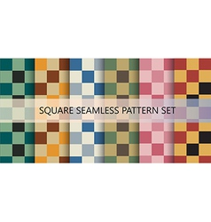 Squares seamless pattern set vector