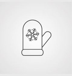 stove gloves icon sign symbol vector image