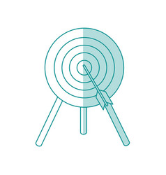 target and arrow design vector image