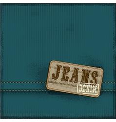 Textile texture jeans background vector