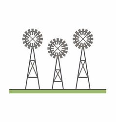 three windmill vector image