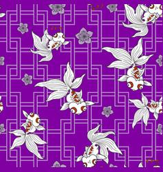 Traditionally goldfish pattern vector