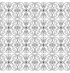 Vintage line art tracery seamless pattern vector