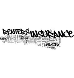 what you should know about renters insurance text vector image