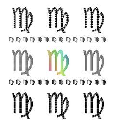 Zodiac sign virgo set vector