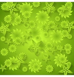 Abstract green floral pattern vector image
