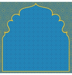 Arabian blue background vector