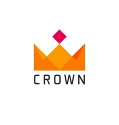 Flat abstract geometric golden royal crown logo vector image vector image