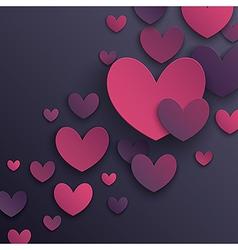 paper hearts2 vector image vector image