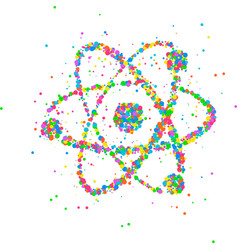 abstract nucleus of an atom vector image