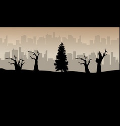 bad environment landscape background silhouette vector image vector image