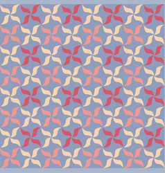 floral petals seamless geometry pattern vector image vector image