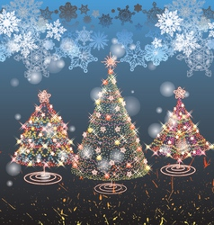 tree merry christmas vector image vector image