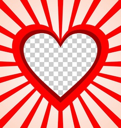 Valentines Day background frame with heart and vector image
