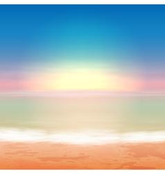 Beautiful sea sunset vector image