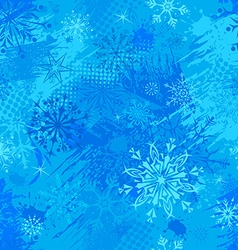 Blue seamless Christmas pattern vector image