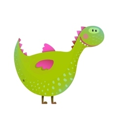 Dragon childish fun cute cartoon vector
