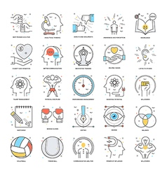 Flat Color Line Icons 19 vector image