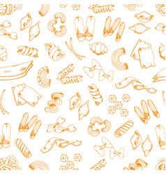 italian pasta sketch seamless pattern vector image vector image