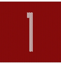 modern red knitted texture vector image