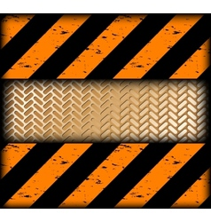 Warning strips with gold texture vector image