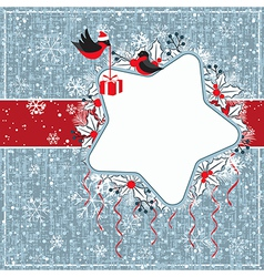 Winter gray card vector image vector image