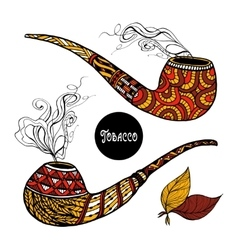 Doodle Pipes Set vector image