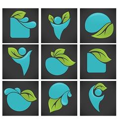 eco symbols vector image