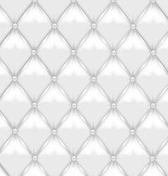White Leather Upholstery vector image vector image