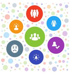 7 avatar icons vector