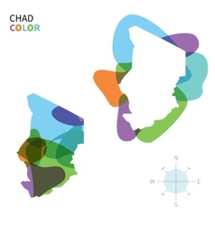 Abstract color map of Chad vector image