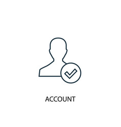 Account concept line icon simple element vector