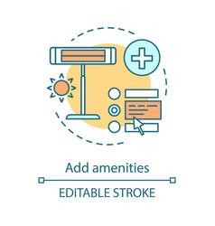 Add amenities concept icon vector