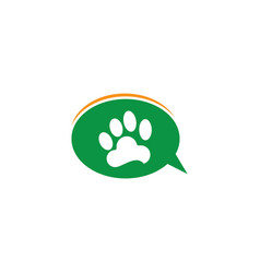 animal chating aplikasi logo vector image