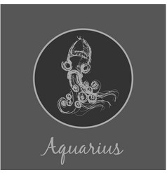 aquarius astrological zodiac symbol horoscope vector image