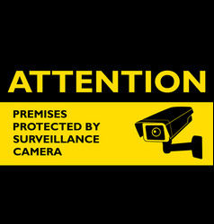 attention premises protected surveillance vector image