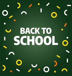 Back to school sale template design vector
