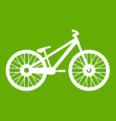 bike icon green vector image