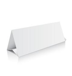 blank trifold paper brochure mockup 3d vector image