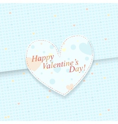 Blue paper postcard with heart shapes vector image