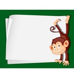 Cartoon Paper Space Monkey vector image