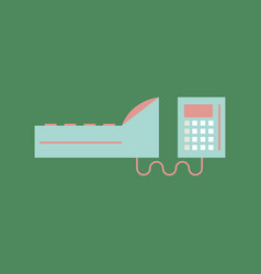 Cash register in flat style money and finance vector