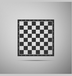 chess board flat icon on grey background vector image