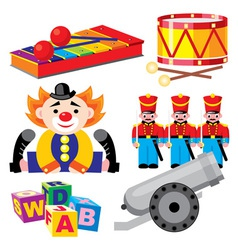 Children toys set vector
