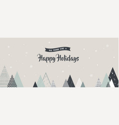 christmas winter landscape background abstract vector image